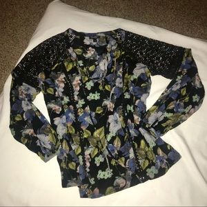 💐Jessica Simpson Floral Long Sleeve Blouse